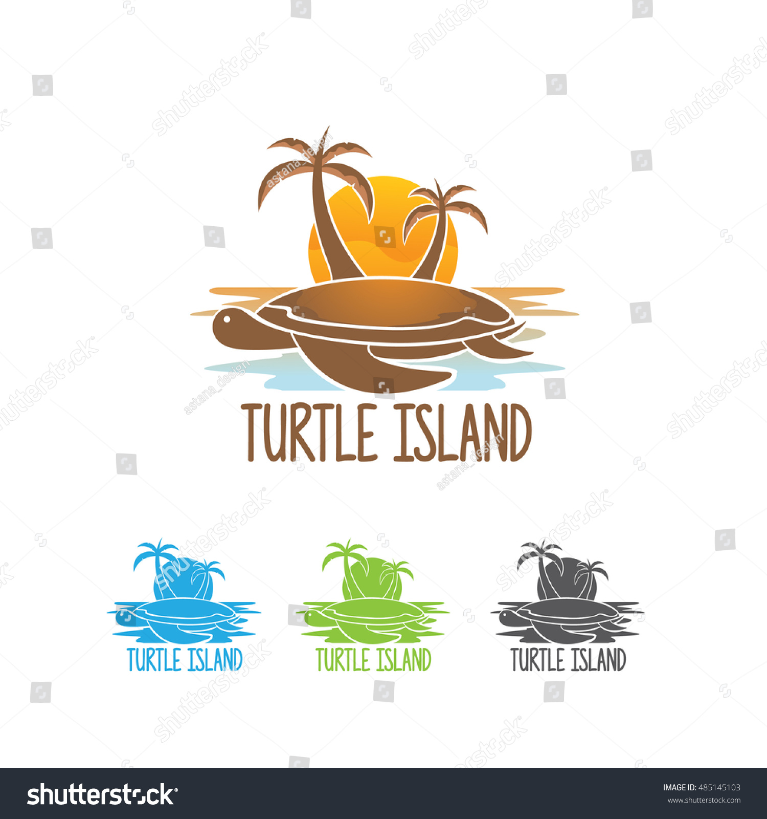 turtle island logo turtle island vector stock vector royalty free