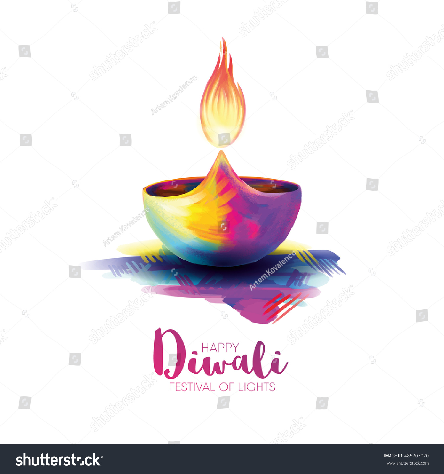 Vector Illustration On The Theme Of Traditional Celebration Happy Diwali Deepavali Light And
