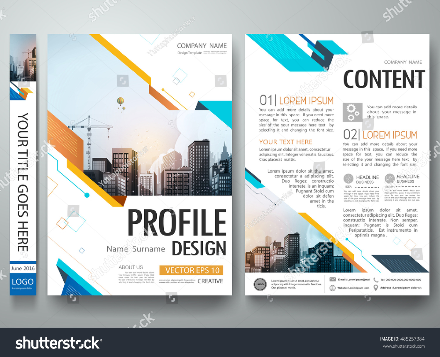 cover book presentation brochure design template stock vector, Powerpoint templates