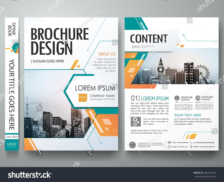 Cover Book Brochure Layout Vector ~ Cover book presentation brochure design template stock