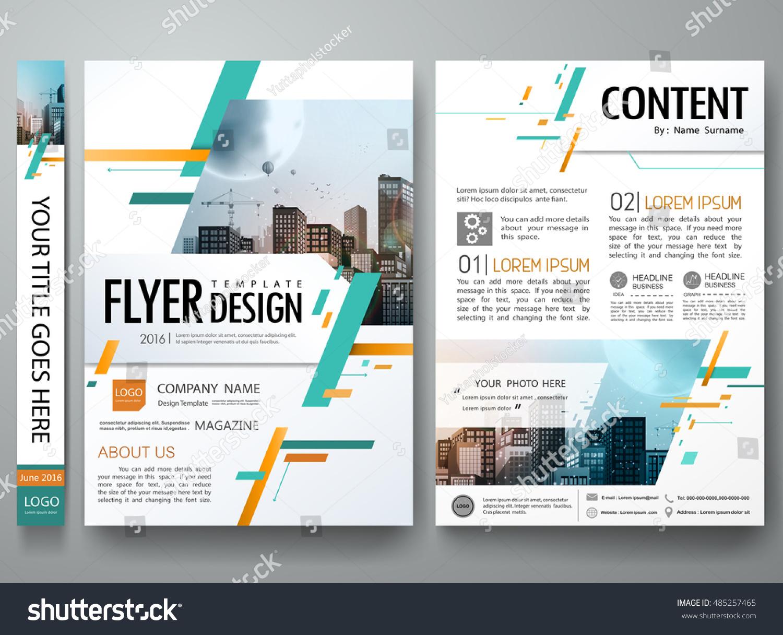 Cover Book Portfolio Presentation Brochure Design Template Vector City Concept In A4 SizeGreen