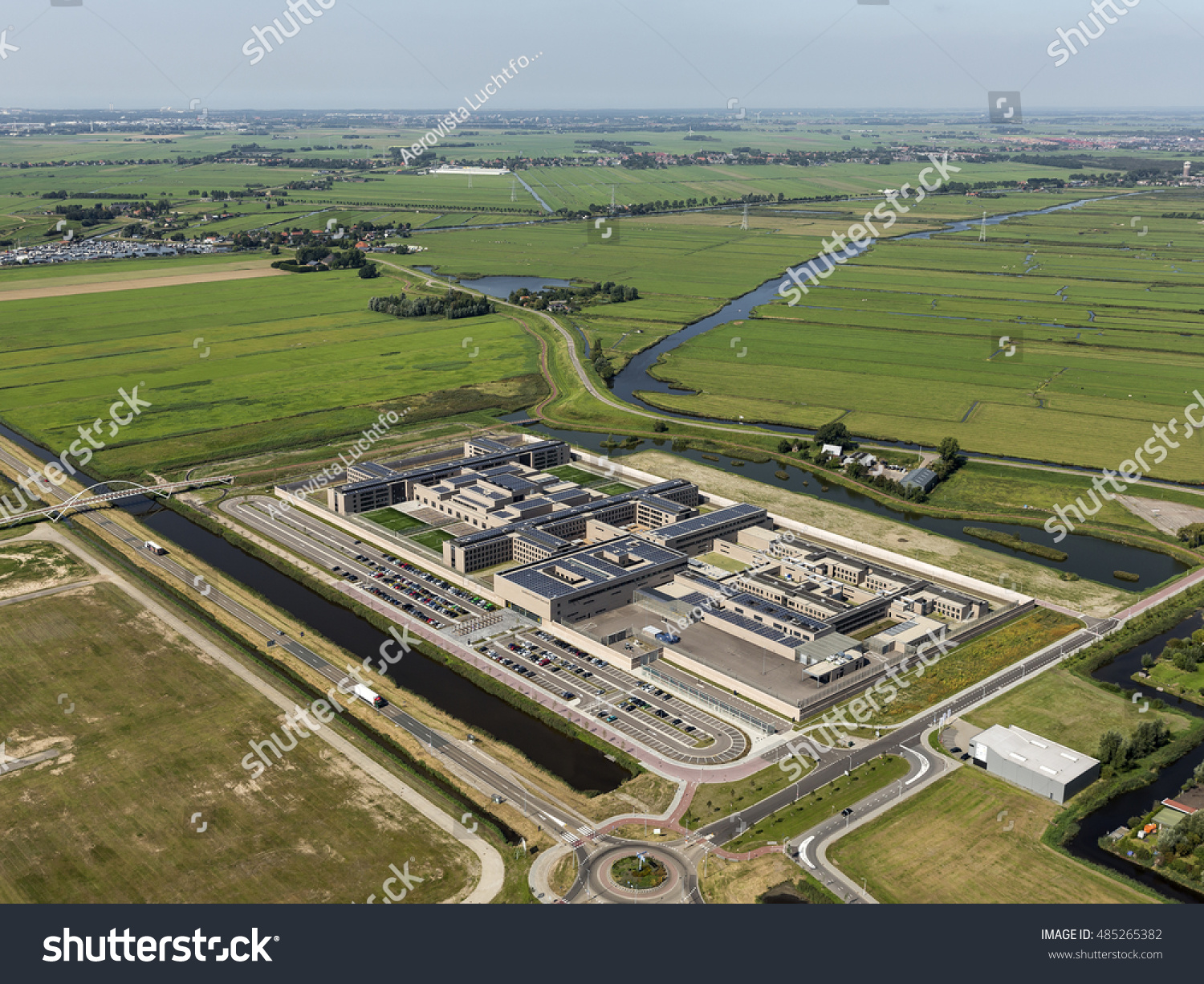 Aerial View Large Prison Netherlands Located Stock Photo - Where is the netherlands located