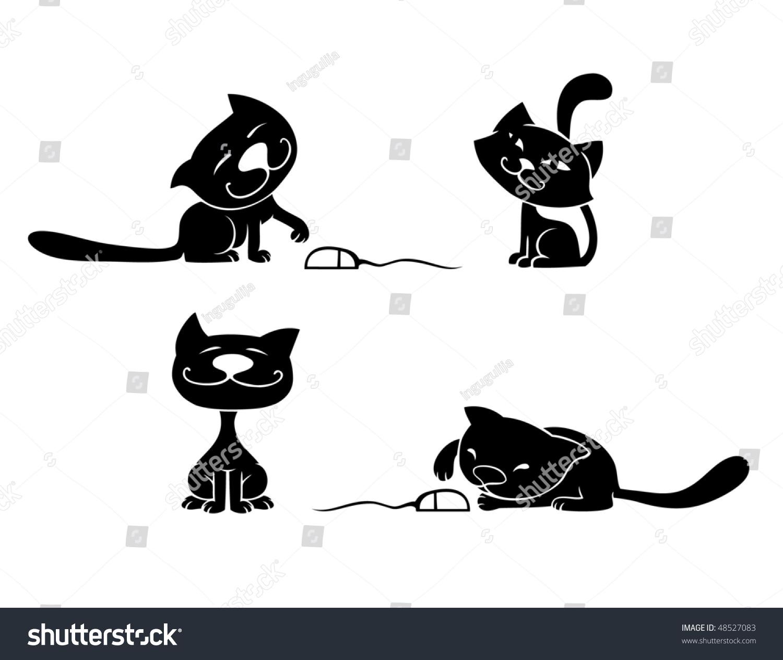 black cat vector cristiano - photo #10
