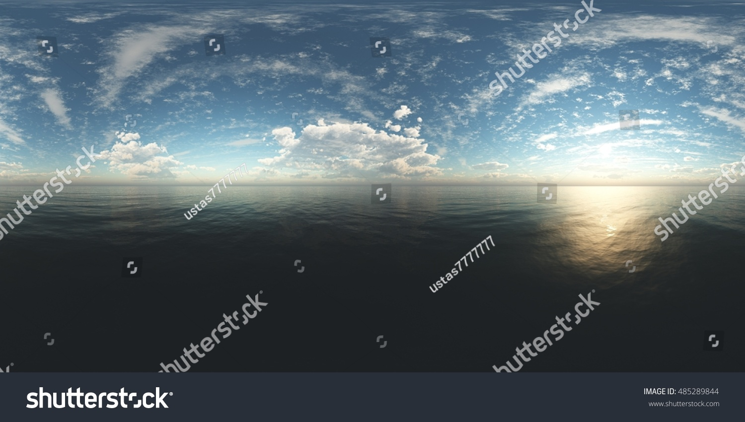 panorama of sea sunset Environment map HDRI map Equirectangular projection Spherical panorama landscape 3D rendering