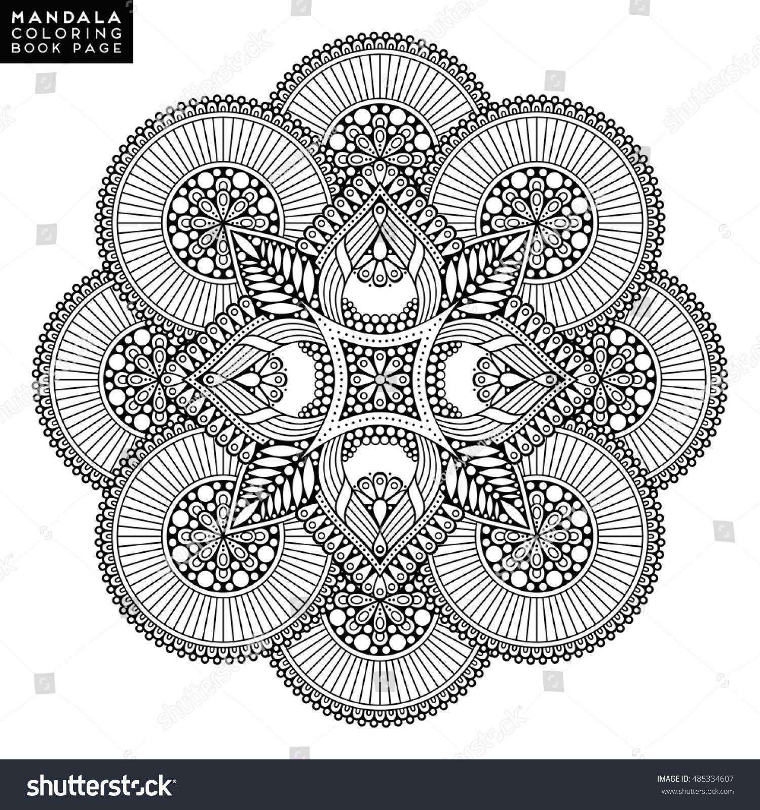 Flower Mandala Vintage Decorative Elements Oriental Stock Vector 485334607