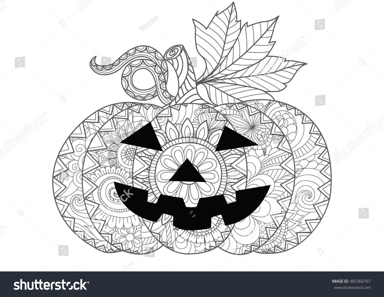 Doodle Design Halloween Pumpkin Halloween Card Stock Vector ...