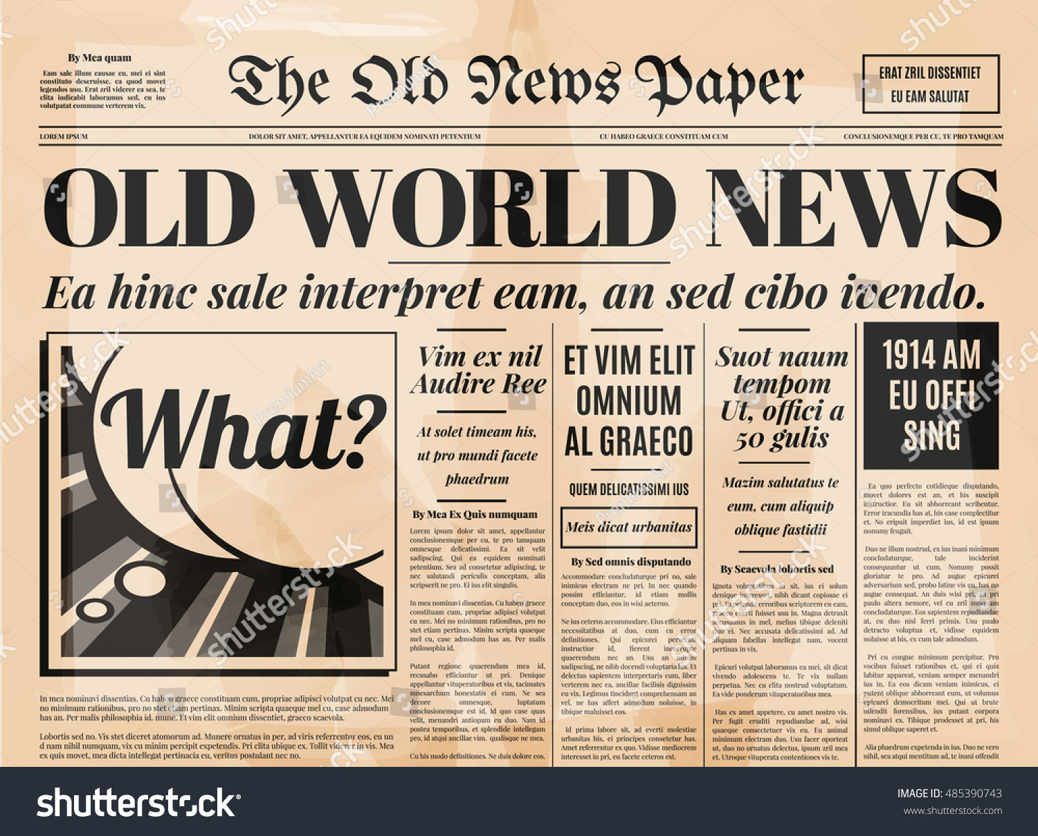 old newspaper vintage design retro background のベクター画像素材