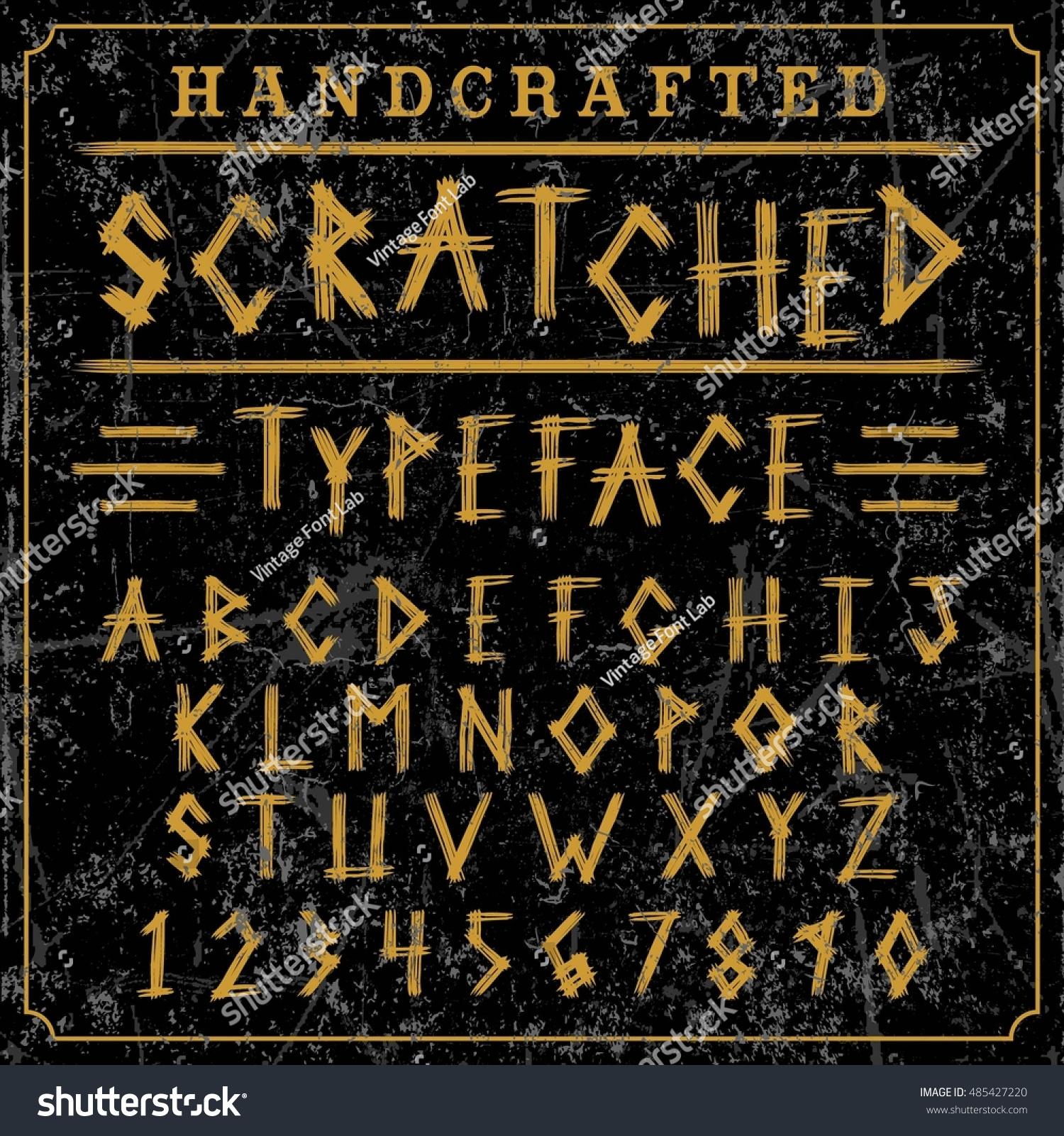 Font Script Typeface Scratched