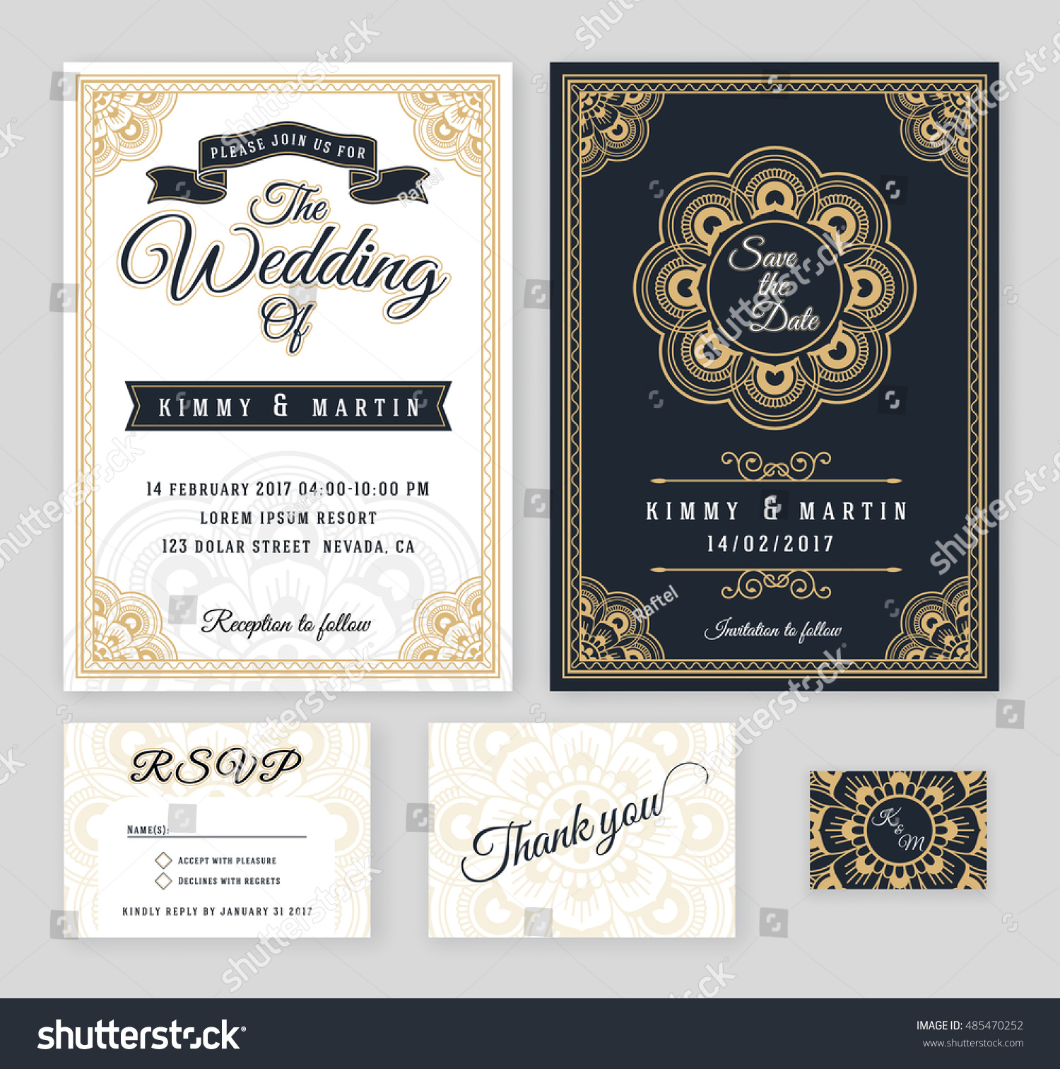 Vintage wedding invitation mehndi mandala design stock vector vintage wedding invitation mehndi mandala design sets include invitation card save the date rsvp stopboris Image collections