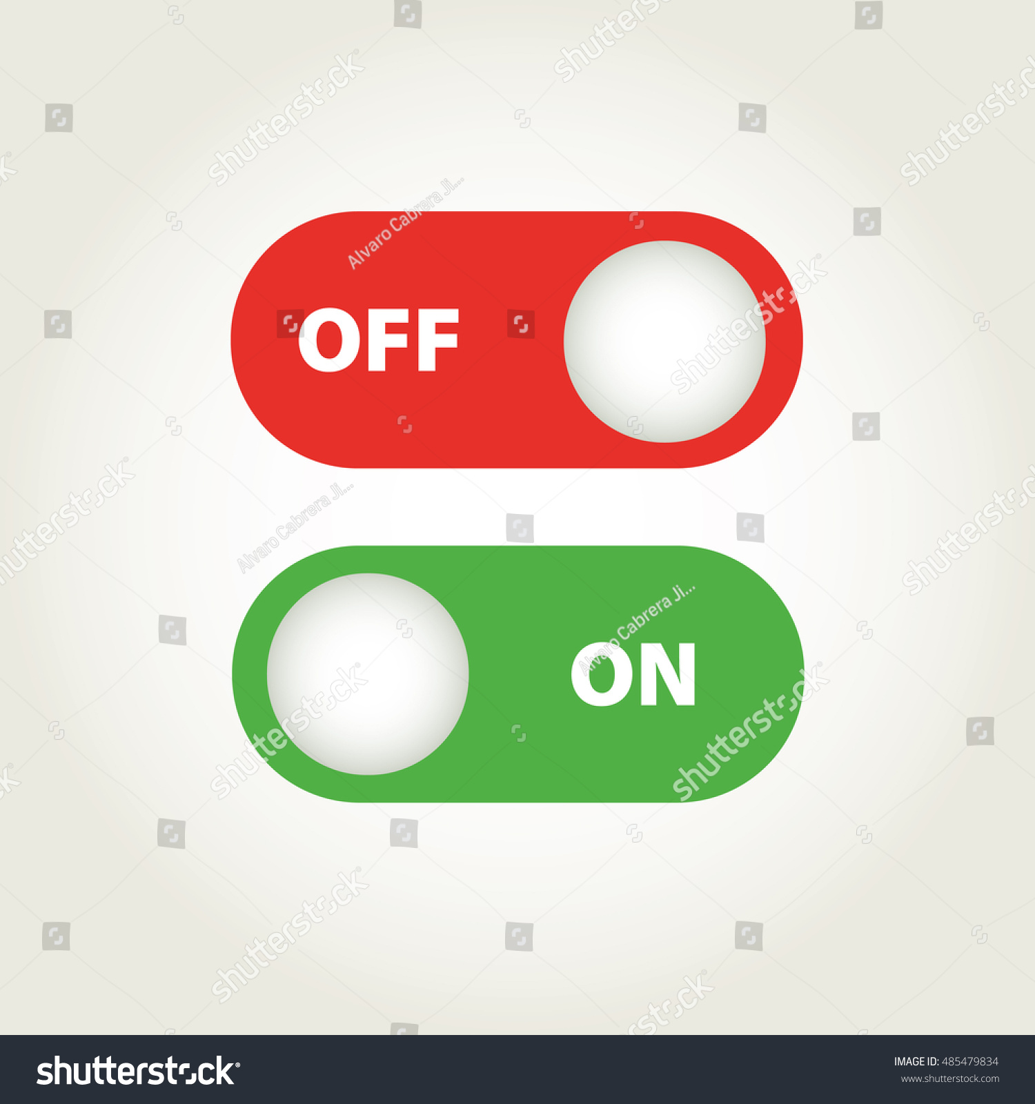 Toggle switch icon on off position stock vector 485479834 toggle switch icon on off position biocorpaavc Images