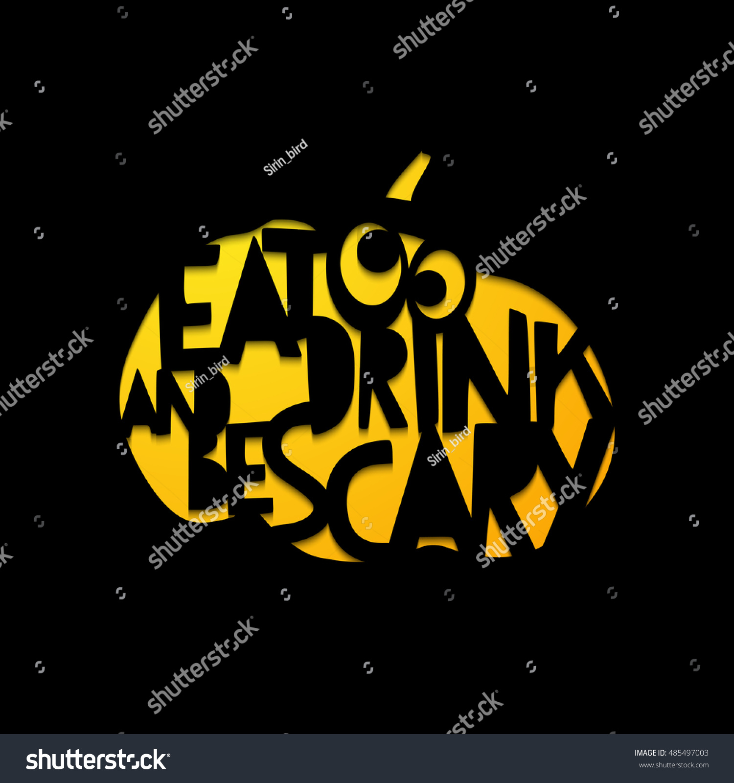 Eat Drink Be Scary Laser Cutting Stock Vector (Royalty Free ...