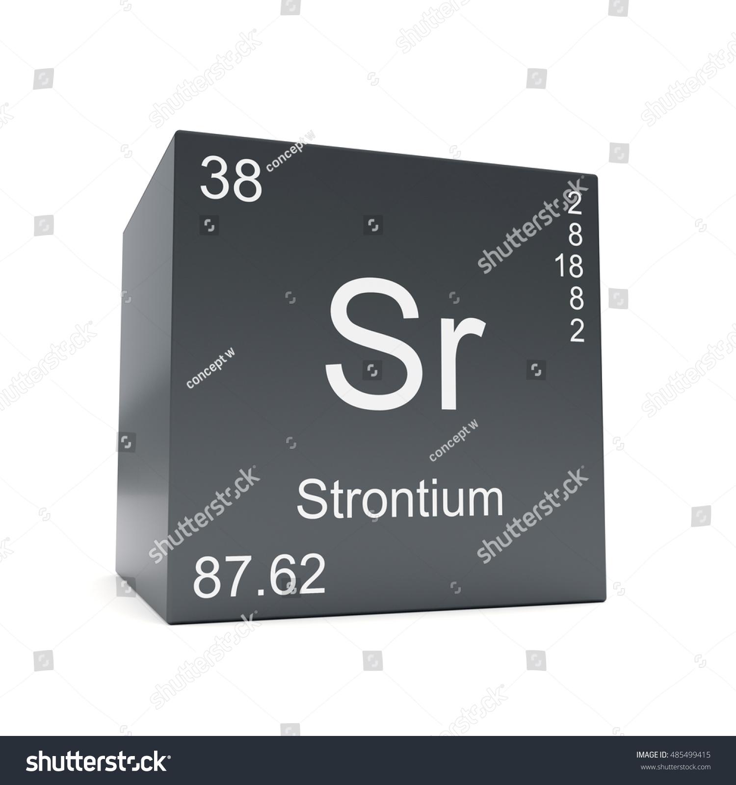 Strontium Chemical Element Symbol Periodic Table Stock Illustration