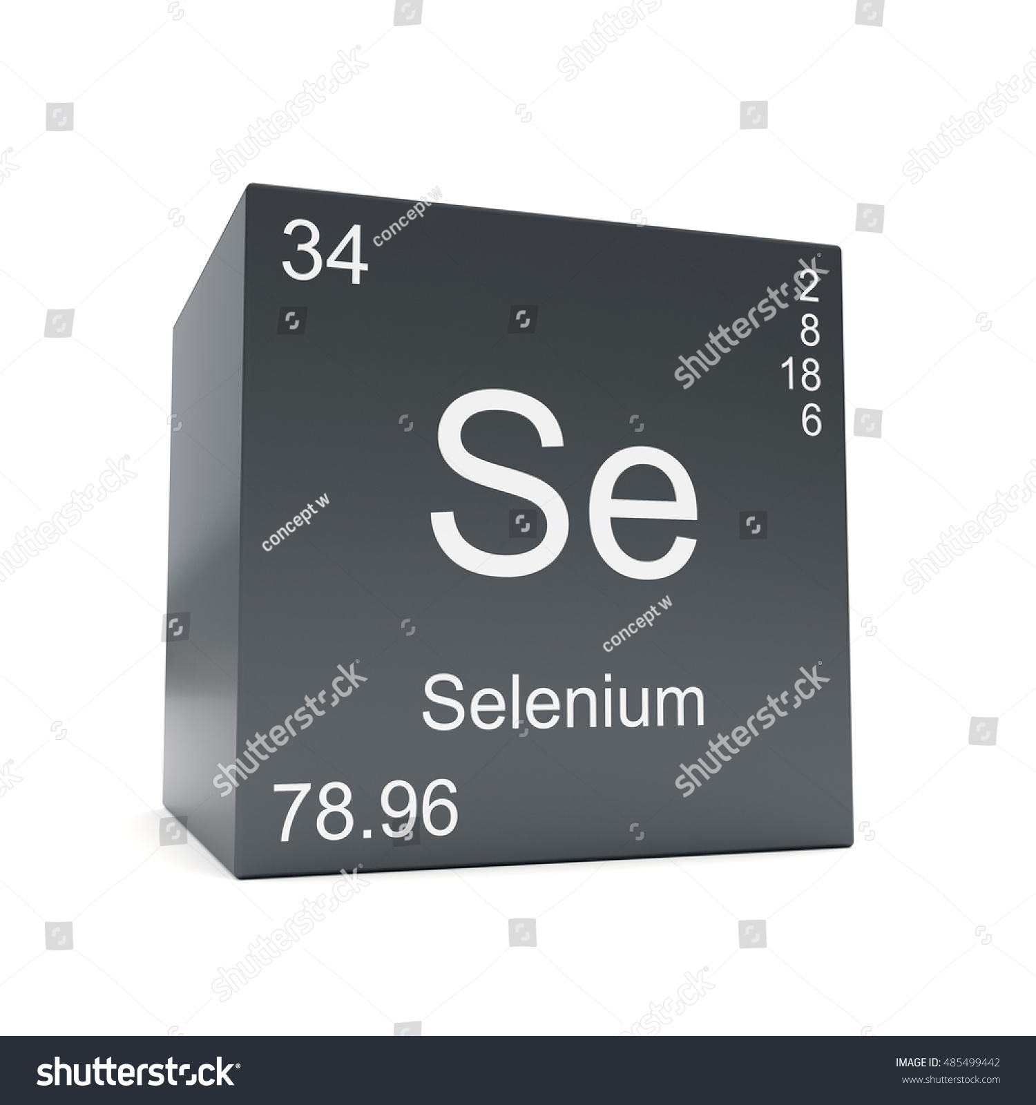 Selenium chemical element symbol periodic table stock illustration selenium chemical element symbol from the periodic table displayed on black cube 3d render buycottarizona