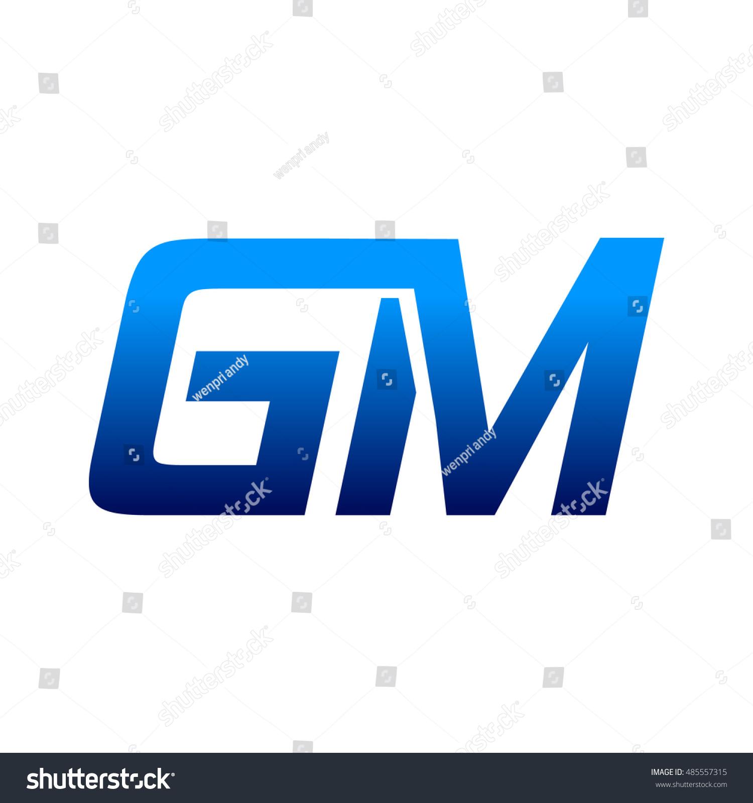 letter g m logo stock vector 485557315 shutterstock rh shutterstock com gm canada logo vector gm performance parts logo vector