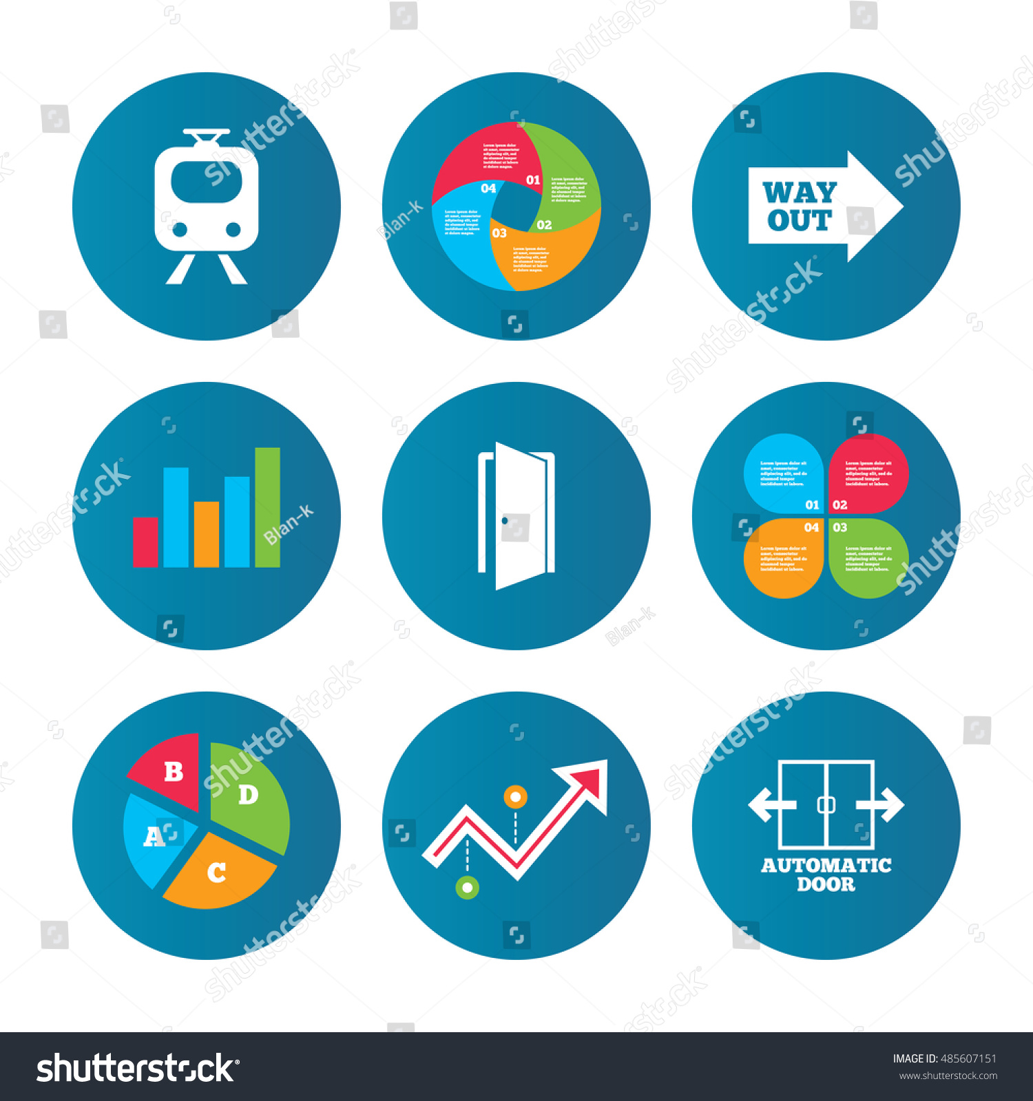 Business pie chart growth curve presentation stock vector 485607151 business pie chart growth curve presentation buttons train railway icon automatic door nvjuhfo Choice Image