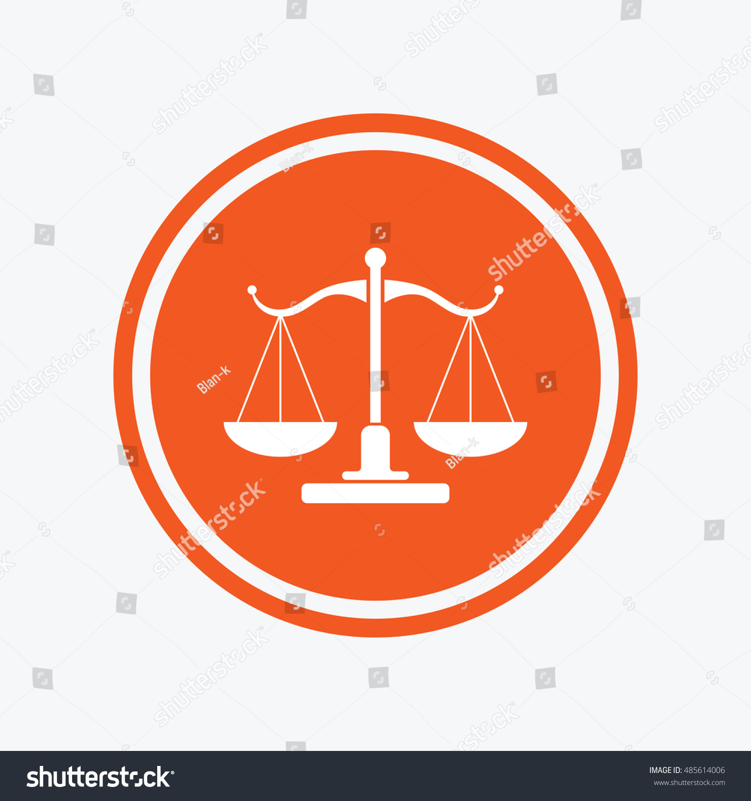 Scales Justice Sign Icon Court Law Stock Vector Royalty Free