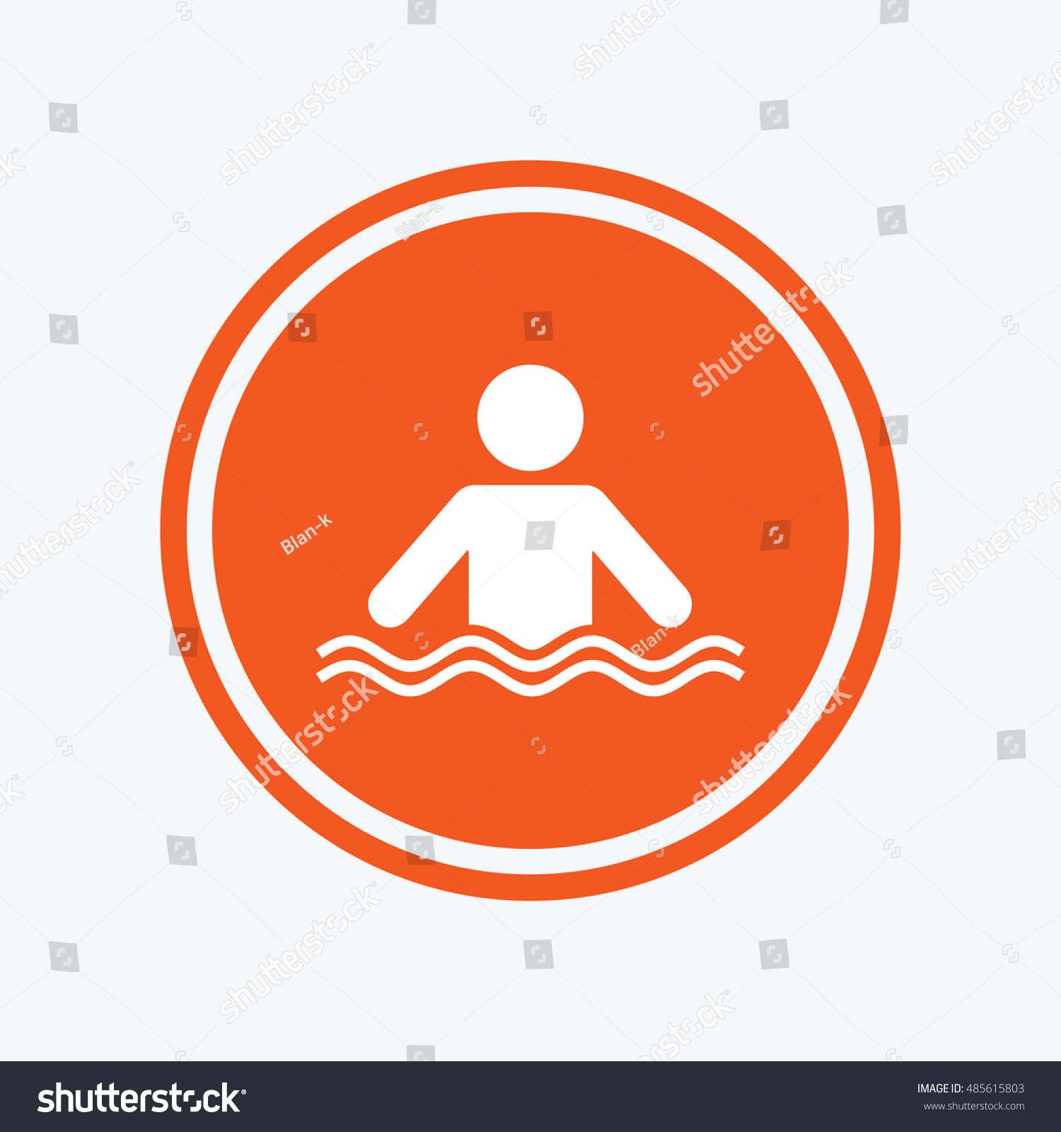 Swimming sign icon pool swim symbol stock vector 485615803 for Pool design graphic