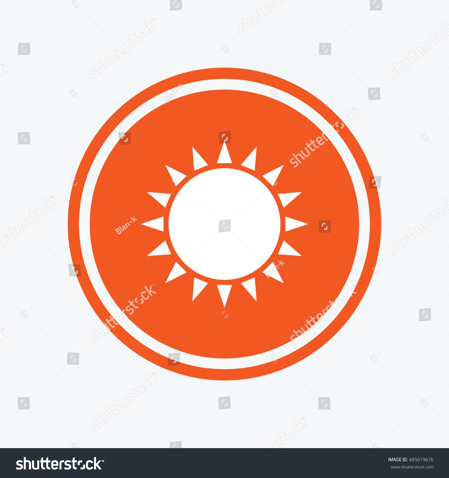 Sun Icon Sunlight Summer Symbol Hot Stock Vector 485619676