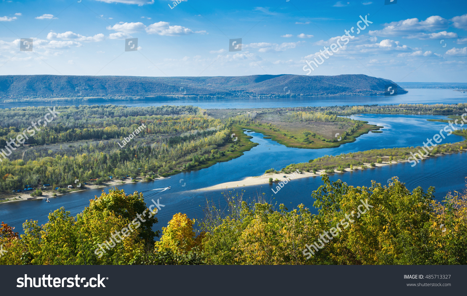 View on valley volga river hill stock photo 485713327 for River hill