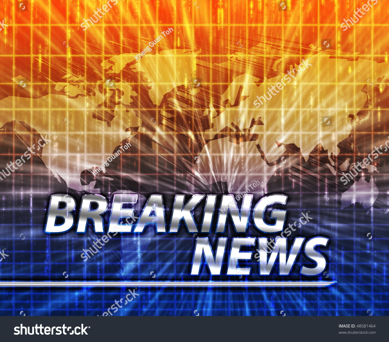 Breaking News: Latest Breaking News Newsflash Splash Screen Announcement