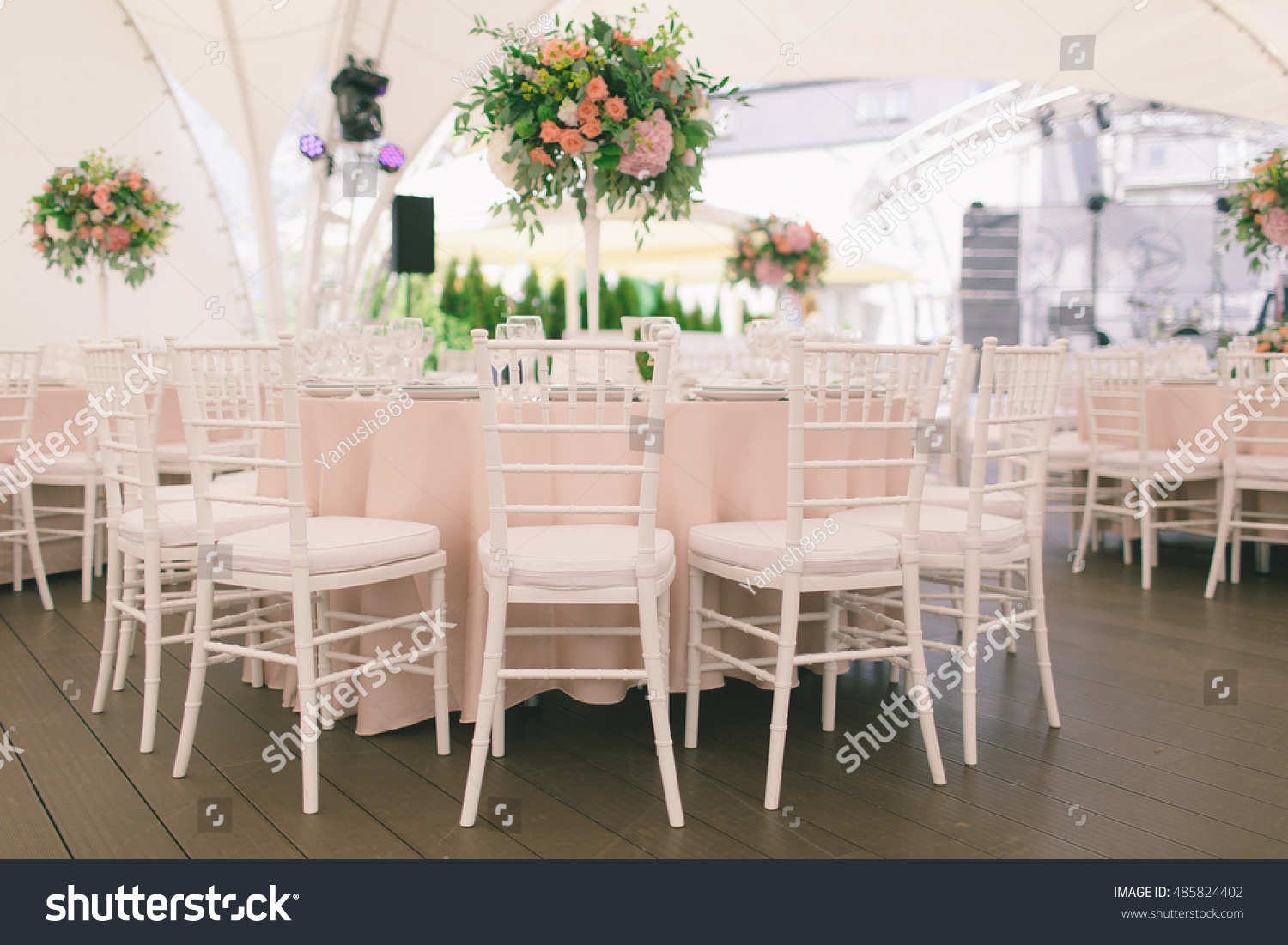 Original Wedding Decor Ideas Wedding Round Stock Photo Edit Now 485824402