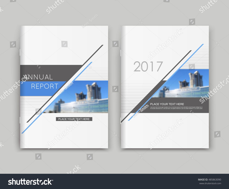 Abstract A4 Brochure Cover Design Text Stock Vector