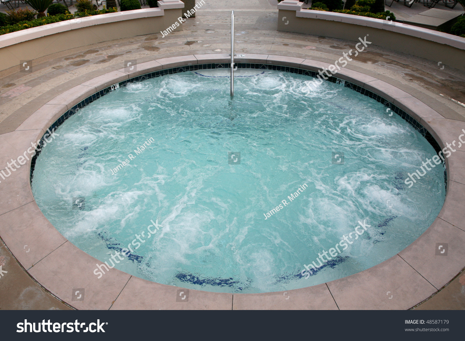 Concrete Spa Whirlpool Stock Photo (Royalty Free) 48587179 ...