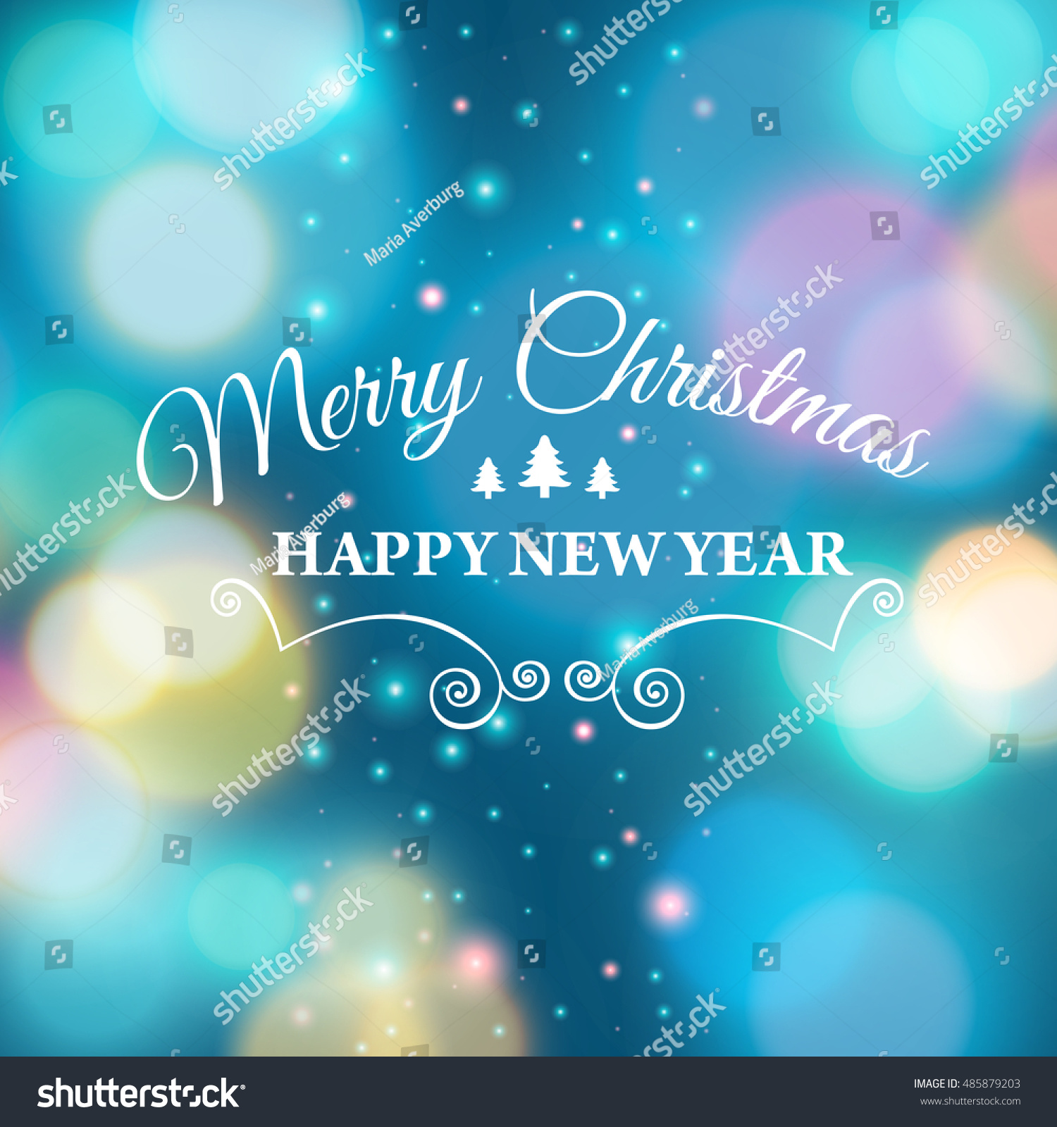 Merry christmas ecard template vector illustration stock vector hd merry christmas e card template vector illustration m4hsunfo