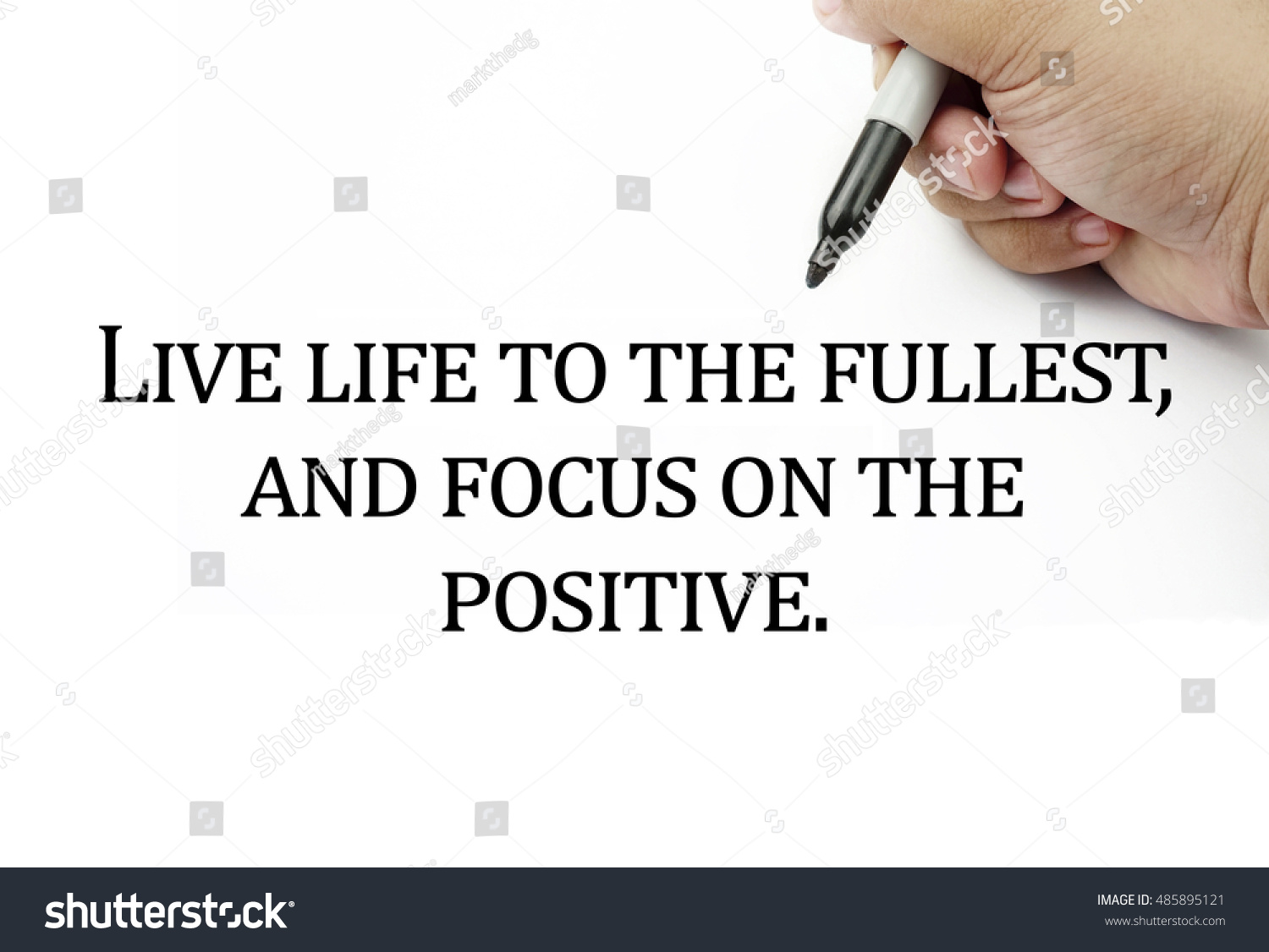 Conceptual Image Handwriting Quotes Live Life Stock Photo Edit Now