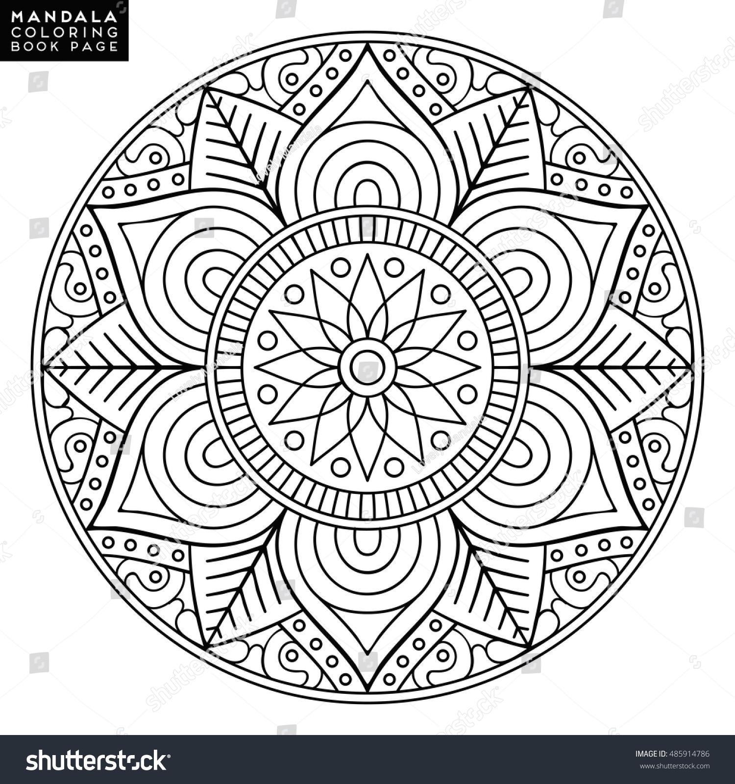 Flower Mandala Vintage Decorative Elements Oriental Stock Vector 485914786