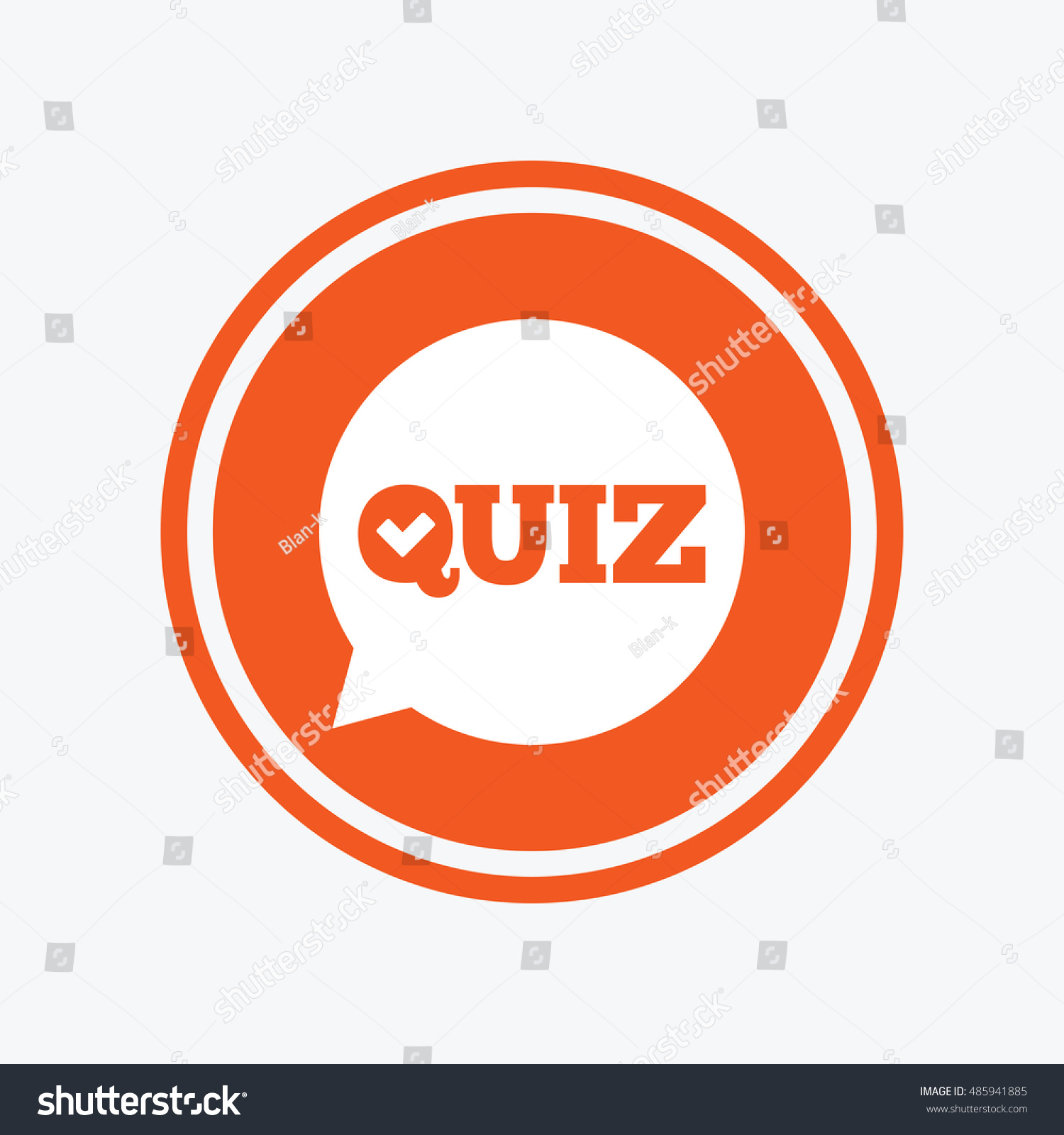 Quiz Check Speech Bubble Sign Icon Stock Vector Royalty Free