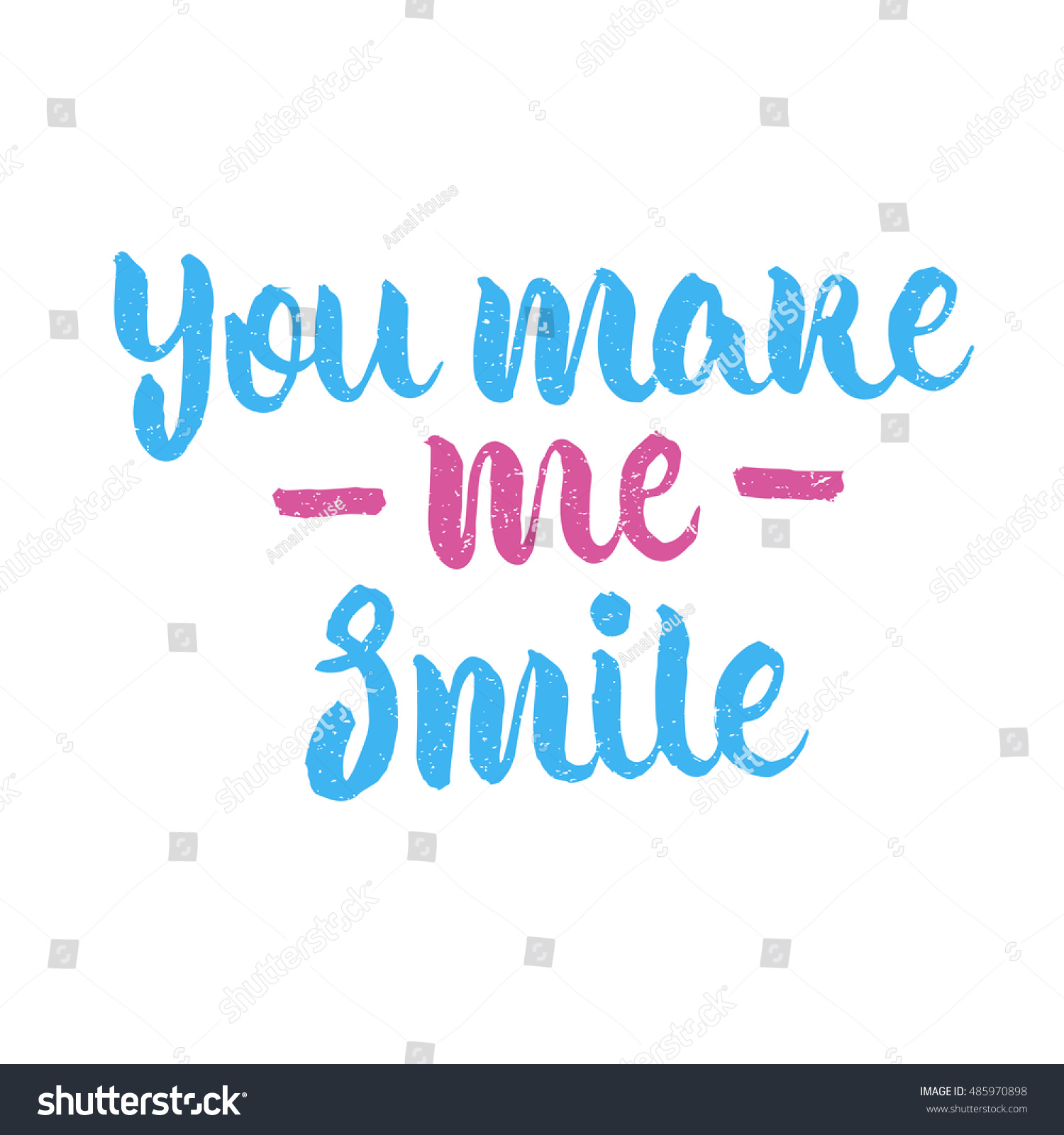 Quotes You Make Me Smile You Make Me Smile Quote Ink Stock Vector 485970898  Shutterstock