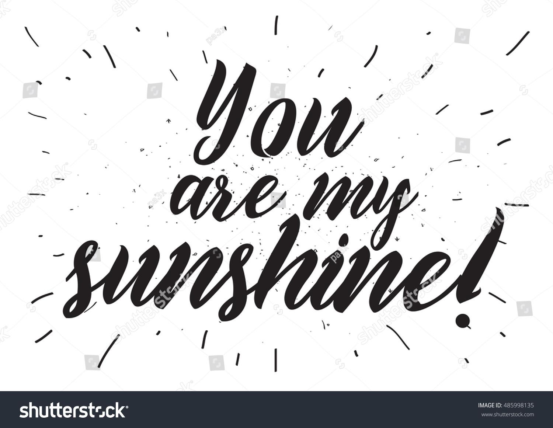 You my sunshine inscription greeting card stock