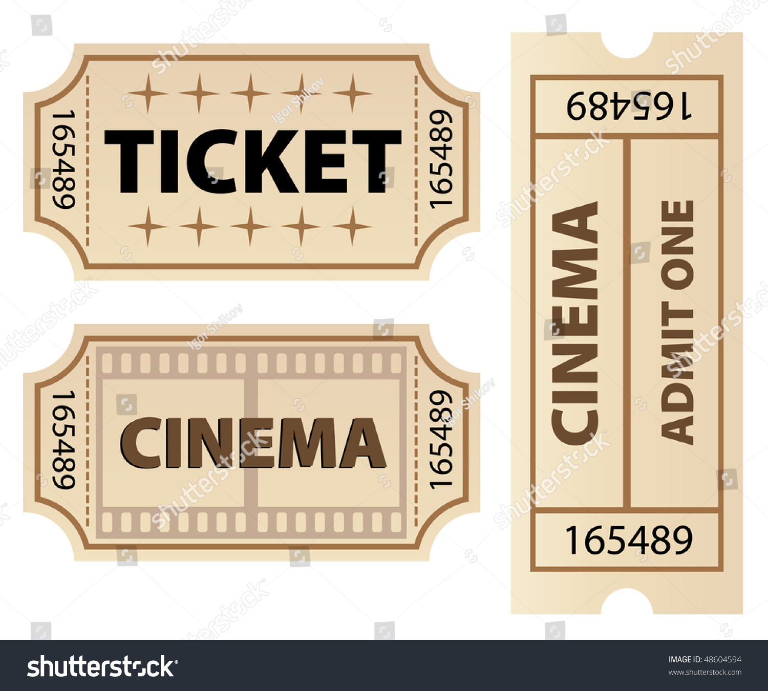 vector ticket template stock vector royalty free 48604594