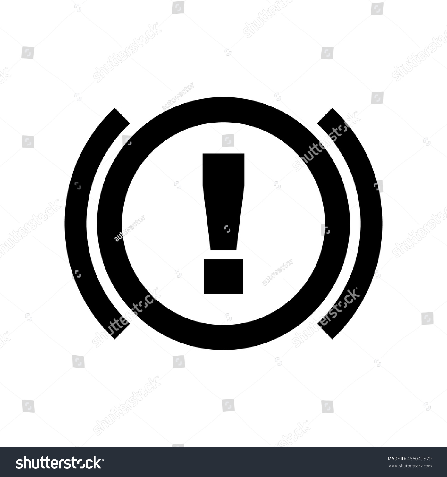Abs Icon Brakes Antilock System Sign Stock Vector Royalty Free