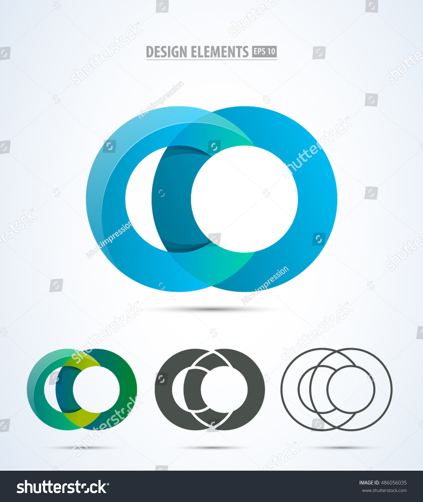 Abstract letter c logo set vector stock vector 486056035 abstract letter c logo set vector graphic elegant impossible alphabet symbol in two colors and biocorpaavc