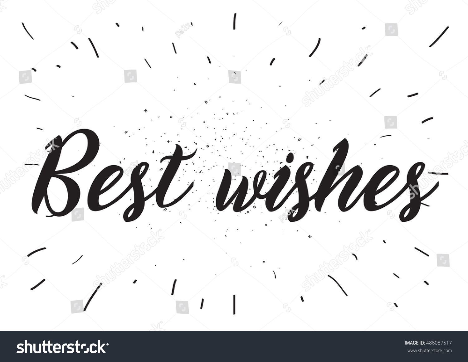 Best Wishes Inscription Greeting Card Calligraphy Stock
