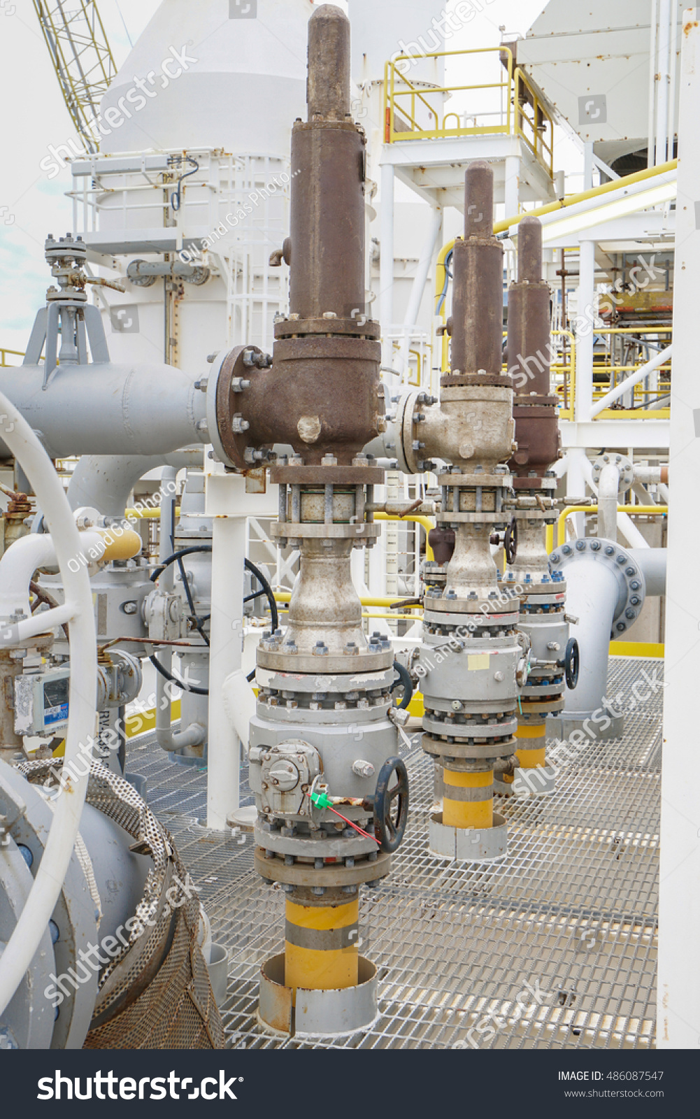 Pressure Safety Valve Install Top Pressurized Stock Photo