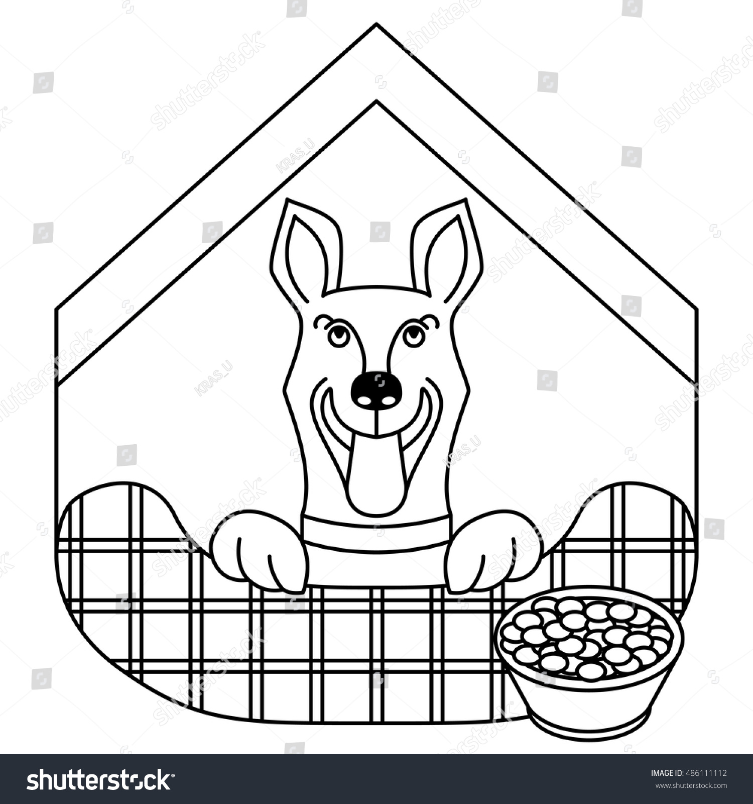 Dog House Symbol Animal Rights Protection Stock Vector Royalty Free