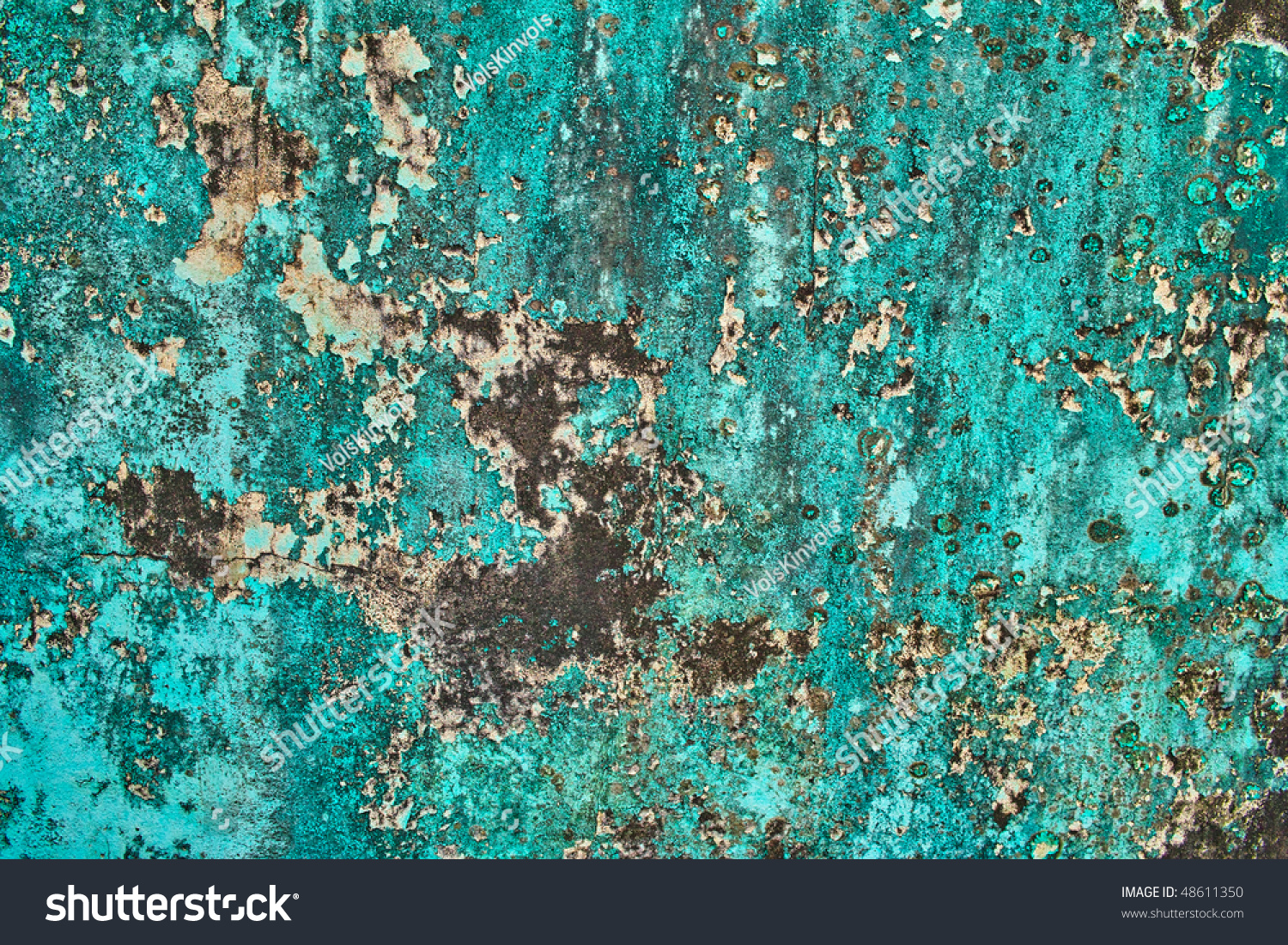 Turquoise wall grunge abstract background texture stock photo 48611350 shutterstock - Turquoise wallpaper for walls ...