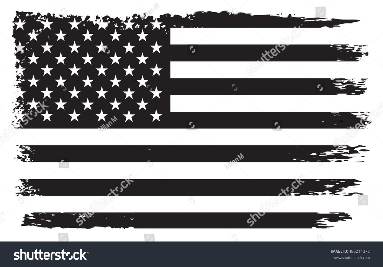 Grunge Usa Flag American Flagvector Template Stock Vector ...