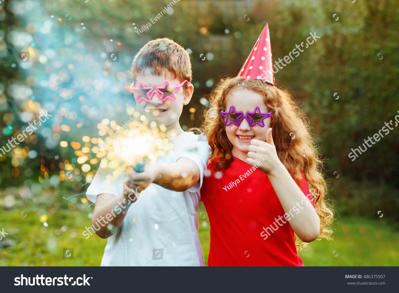 Happy Children Party Popper Confetti Creative Stock Photo (Edit Now ...