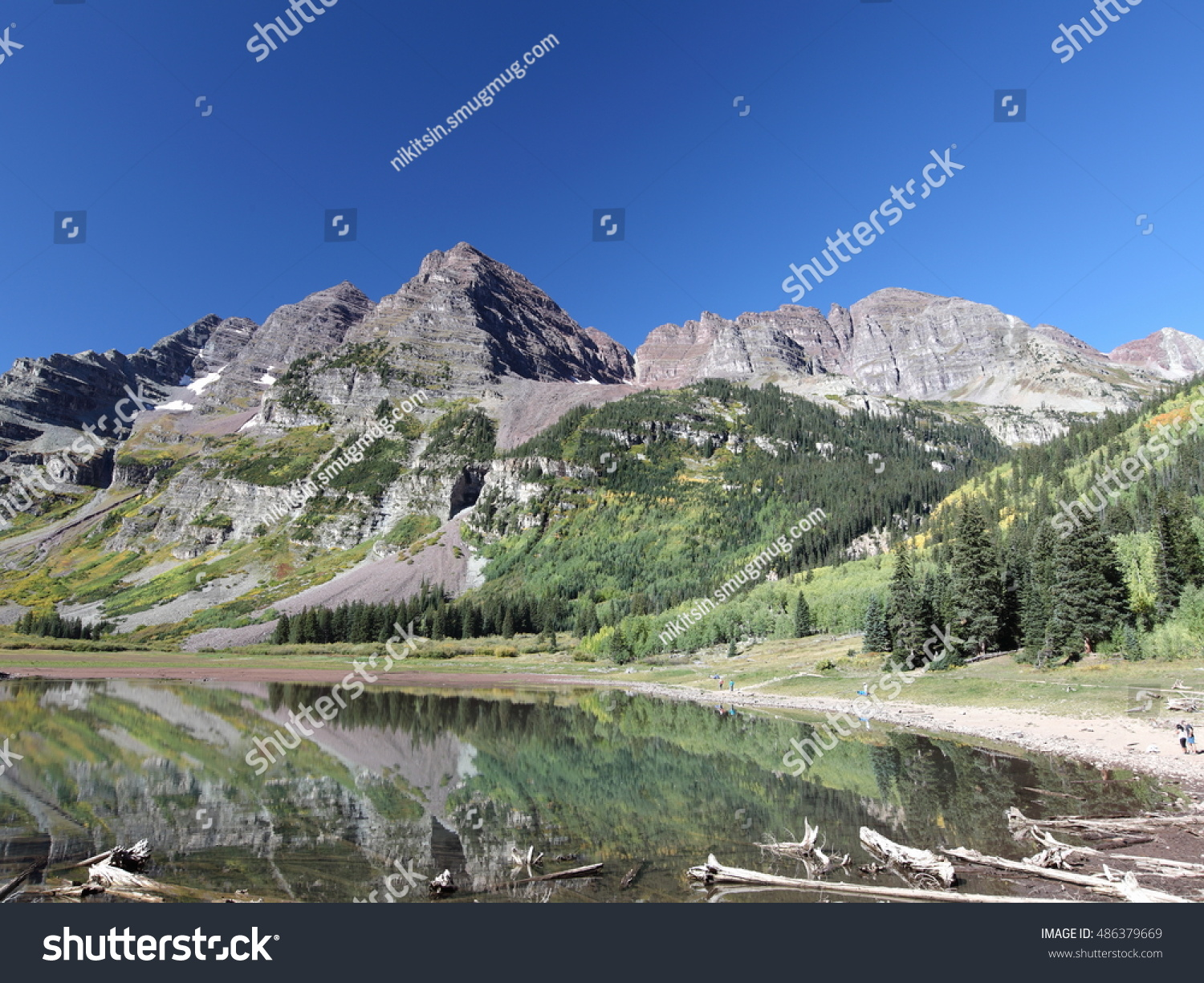 Maroon Bells Colorado View Crater Lake Stock Photo Edit Now