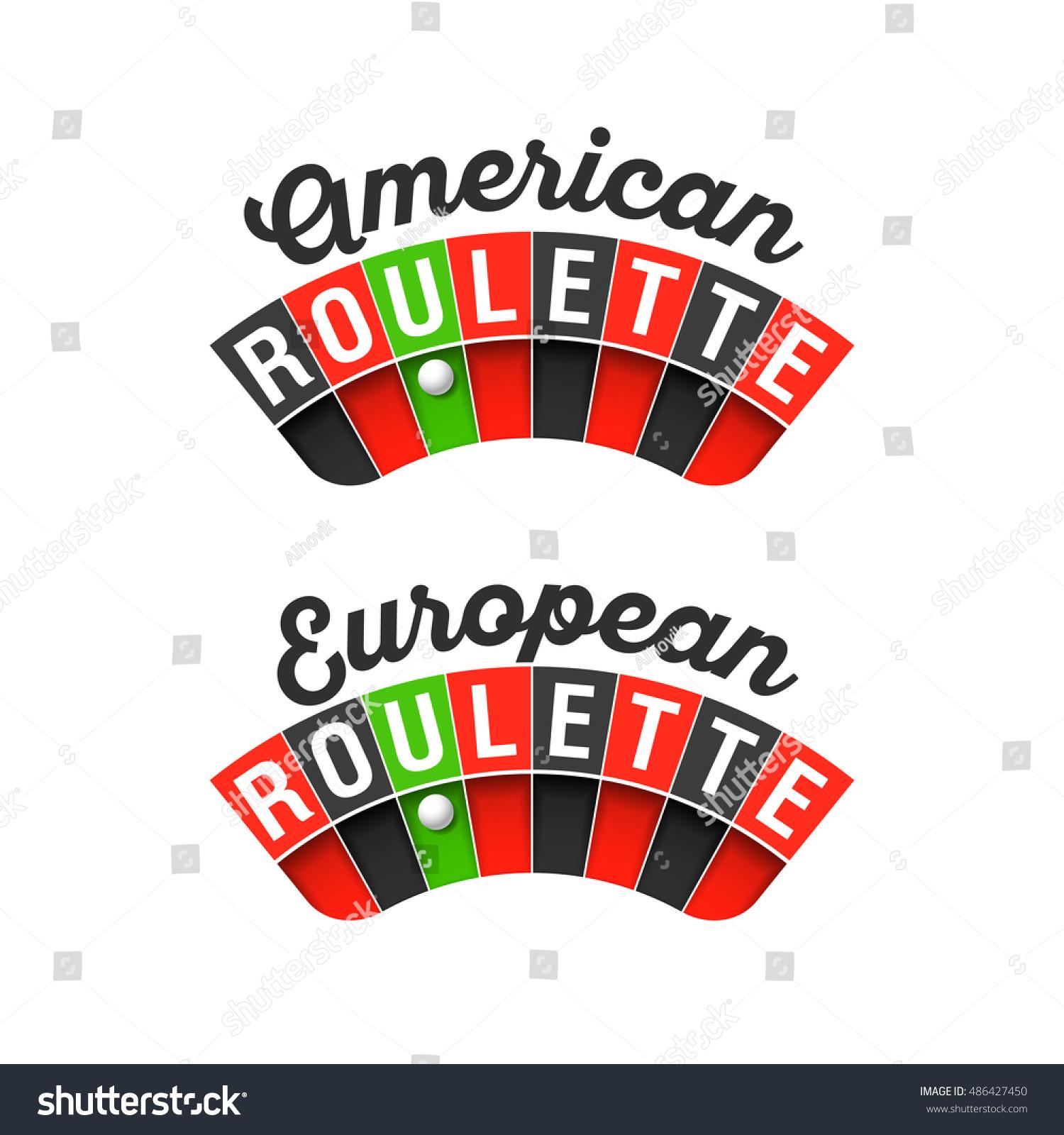 American European Roulette Wheel Signs Vector Stock Vector Royalty
