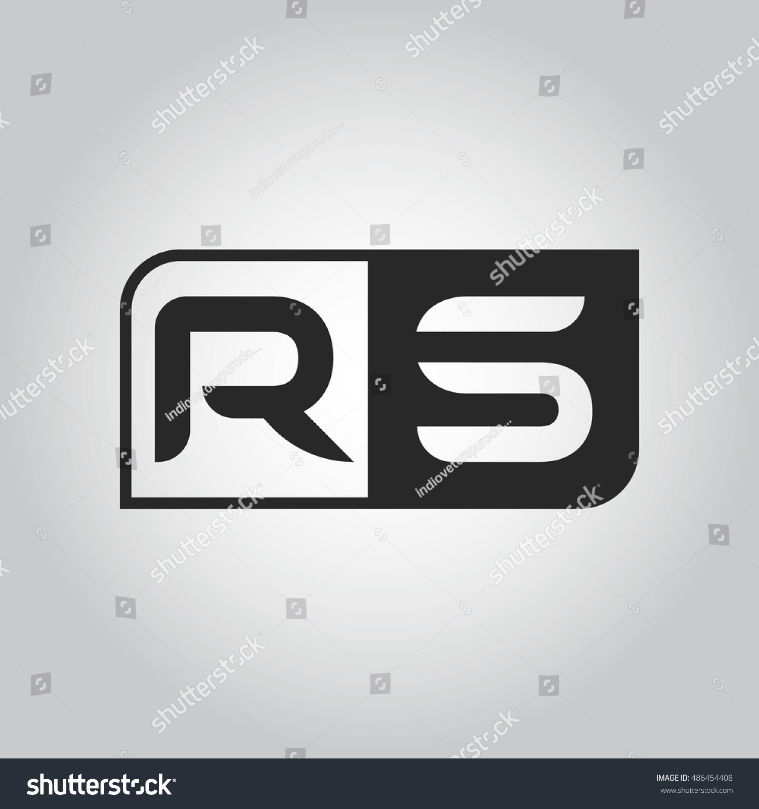 Logo letter rs two different sides stock vector 486454408 shutterstock logo letter rs with two different sides negative or black and white vector template design buycottarizona Image collections