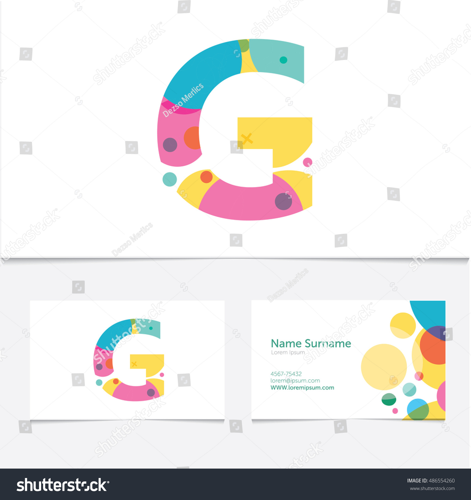 Creative Letter G Design Vector Template Stock Vector