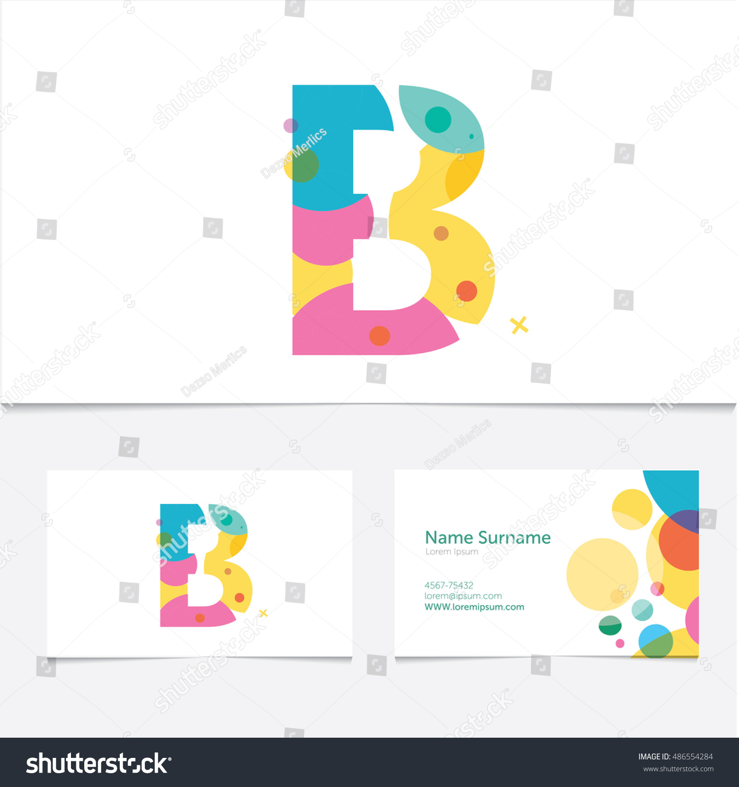 Creative letter b design vector template stock vector 486554284 creative letter b design vector template on the business card template abstract colorful pronofoot35fo Image collections
