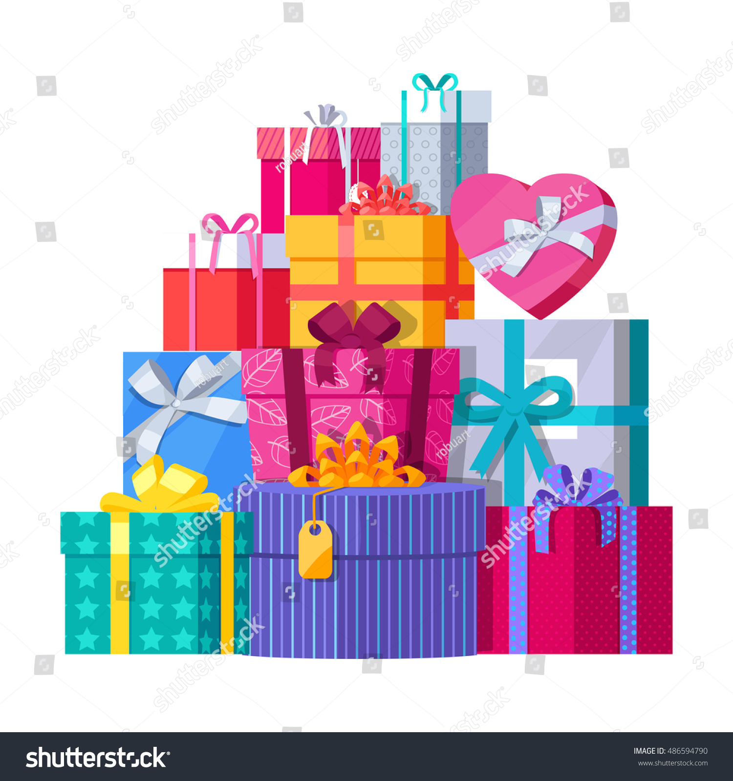 Big pile colorful wrapped gift boxes 486594790 big pile of colorful wrapped gift boxes mountain gifts beautiful present box with overwhelming negle Gallery