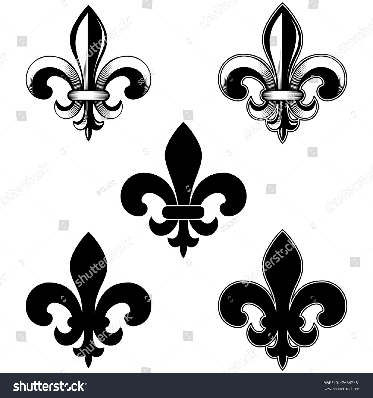 Vector illustration lily flower heraldic emblem stock vector vector illustration lily flower heraldic emblem royal fleur de lis fleur izmirmasajfo