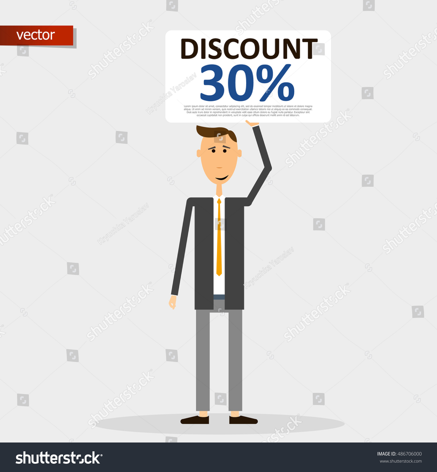 discount sale 30 card hold man stock vector shutterstock